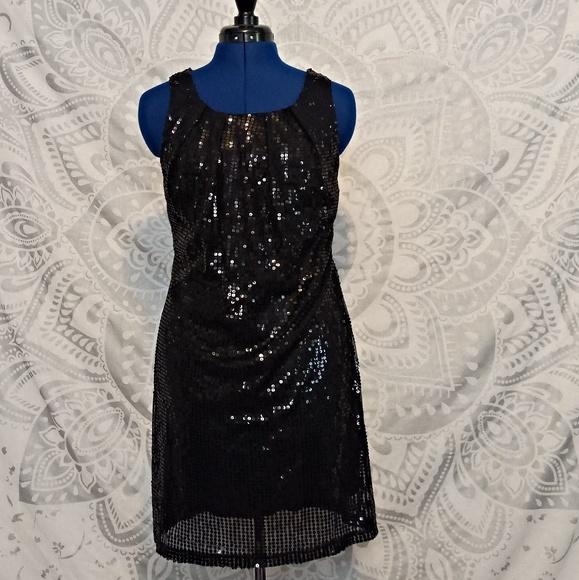 Wet Seal Dresses Sequin Little Black Dress With Open Back Poshmark